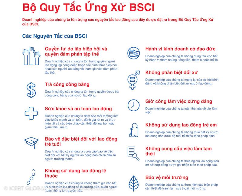 Bộ quy tắc ứng xử theo BSCI