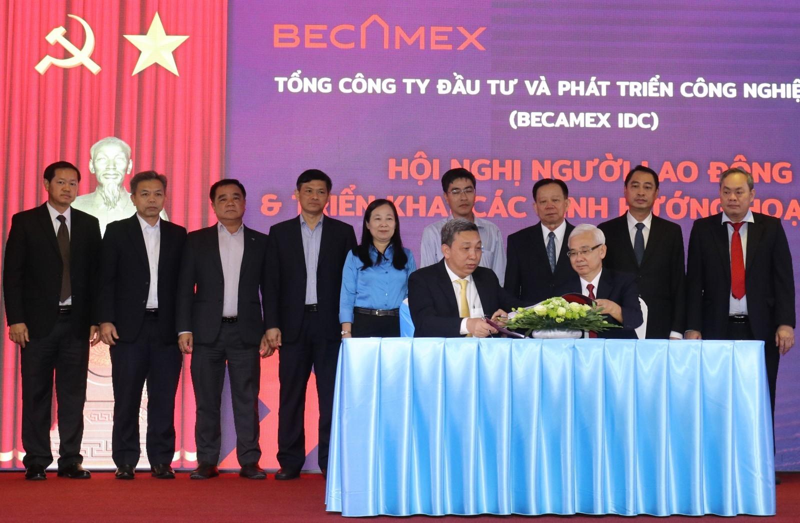 Becamex IDC tổ chức lễ ký kết thỏa ước lao động tập thể và giao ước thi đua năm 2021