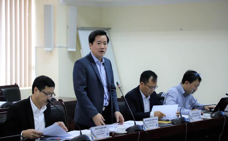 Ông Nguyễn Hoàng Linh, Phó Tổng cục trưởng Tổng cục Tiêu chuẩn-Đo lường-Chất lượng báo cáo công tác triển khai hoạt động Giải thưởng Chất lượng Quốc gia 2020. Ảnh: tcvn.gov.vn