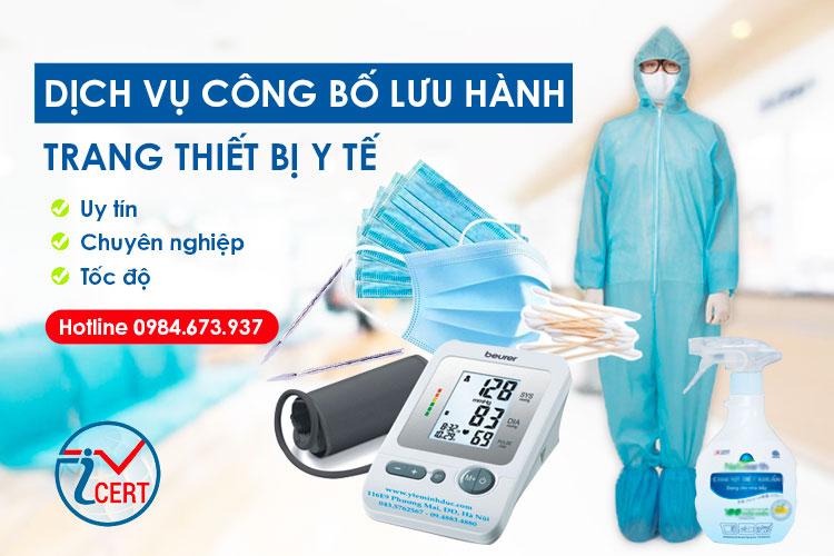 Dịch vụ công bố trang thiết bị y tế